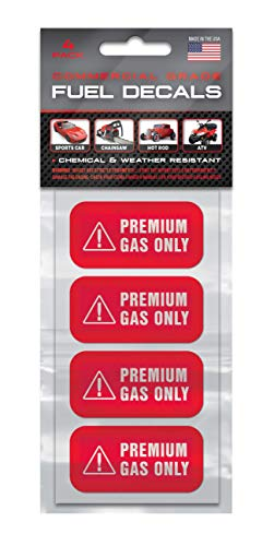 Premium Gas Only Sticker - 4 PACK - 2