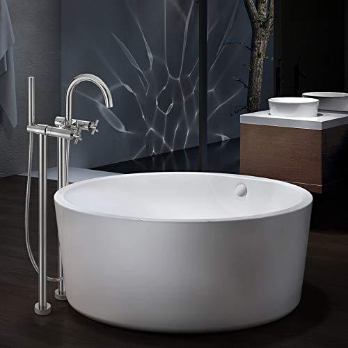 Freestanding bathtubs bathtubs bathroom fixtures kitchen and bath fixtures tools and for Woodbridge 54 modern bathroom freestanding bathtub