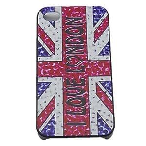 HC-Amo Londres Caso duro del diseño para el iPhone 4/4S