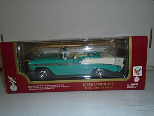 Road Legends Collection 1:18 Scale 1956 Chevrolet Bel Air (Green) (Open Top) Die Cast Metal ()