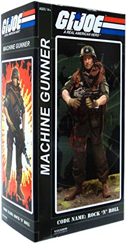 GI Joe Sideshow Collectibles 12 Inch Deluxe Action Figure Heavy Machine Gunner Rock N Roll