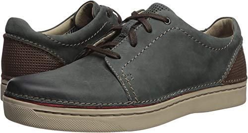 CLARKS Men's Kitna Stride Sneaker Slate Leather 9 M US