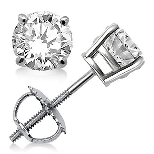 Round Diamond stud (IGI Certified 0.70 ct & up) A Quality ScrewBack 14K from 0.04ct - 2.00ct (white-gold, 0.04)
