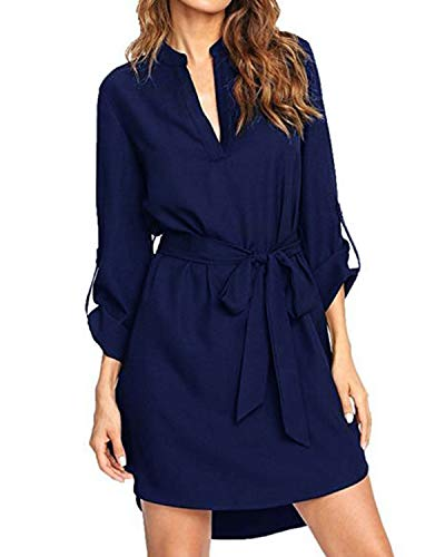 Kenoce Blouse Roll up Sleeve Dresses product image