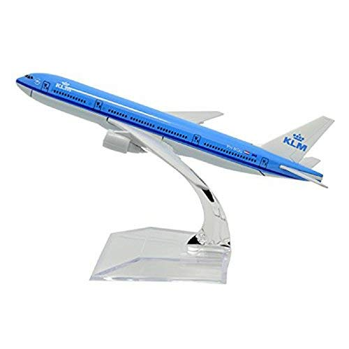 GUOLIAN B747-400 KLM - Avión de Metal para decoración de Oficina (Escala 1:400, 16 cm)