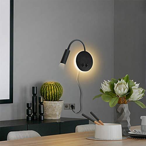 Budbuddy Led-bedlampen, woonkamer, leeslampen, moderne leeslamp, draaibare bedlamp met schakelaar, wandlamp, binnen…