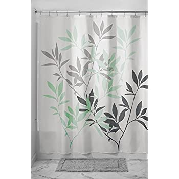 Fabulous Amazon.com: mDesign Leaves Fabric Shower Curtain - 72