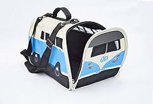 VW Volkswagen T1 Camper Van Pet Carrier - Blue