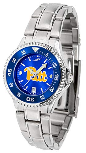 Pittsburgh Panthers Competitor Steel AnoChrome Women's Watch - Color Bezel
