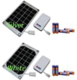 太陽電池パネルと単3形充電式ニッケル水素電池4本入り モバイル太陽電池バイオレッタソーラーギア VS02 【シルバー】