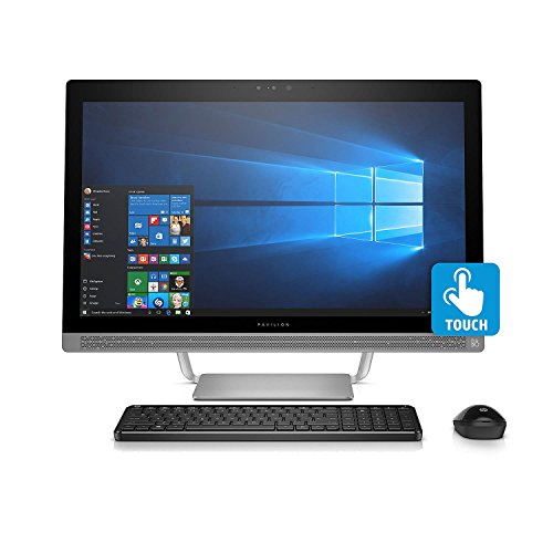 HP Pavilion FHD IPS 24″ Touchscreen All-in-One Desktop, Quad Core Intel i7-7700T 3.8 GHz, 8GB DDR4 RAM, 1TB 7200RPM HDD, Dedicated Graphics 2GB GDDR5, DVD, BT, B&O PLAY, 802.11AC, Wireless Combo-Win10