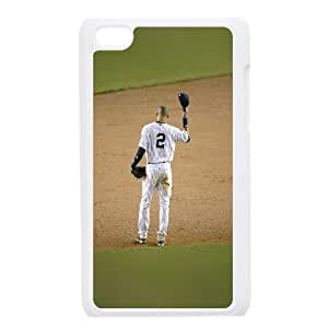 iPod Touch 4 Case White hb71 derek jeter no 2 last game sports P9O8OW