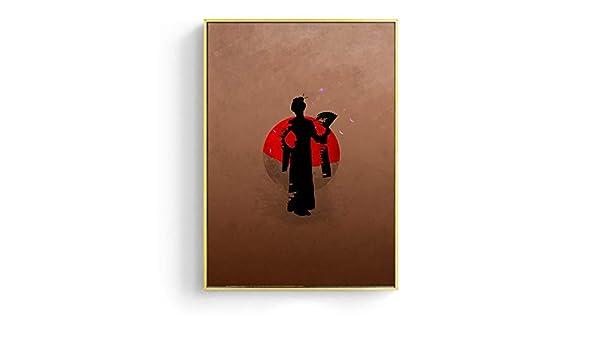 baodanla Sin Marco Japanese Geisha Ninja Samurai Canvas Oil ...