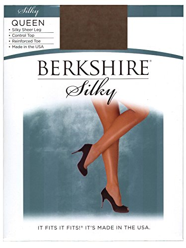 - Berkshire Women's Plus-Size Queen Silky Sheer Control Top Pantyhose 4489,French Coffee, 5X-6X