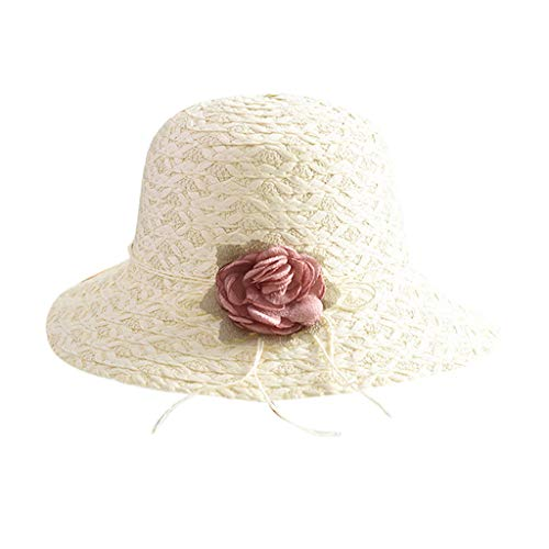 HYIRI Women's Muslim Ruffle Unstructured Sport Floppy Cap Sun Fisherman Hat White