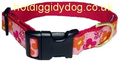 Up Country Flower Power Collar - Small