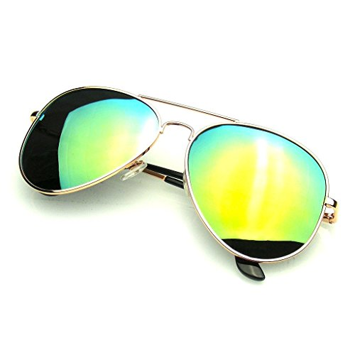 Aviator Sunglasses Mirror Lens New Men Women Fashion Frame Retro Pilot (Polarized Lens | Gold, - Ebay Aviators