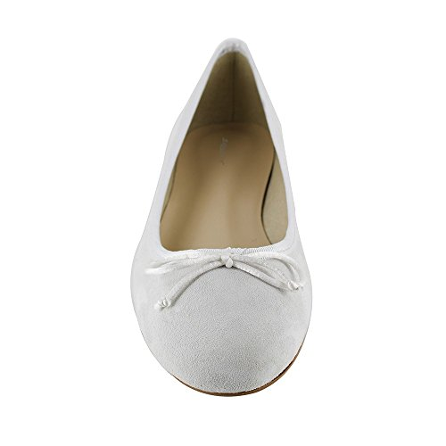 White Leather J Ballerina JB White Miriam Bradford wPxUFzqH