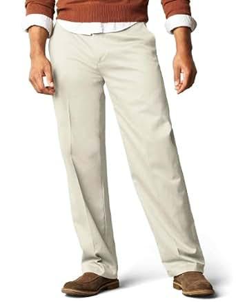 Dockers Men's Classic Fit Flat Front Signature Khaki - 30W x 30L - Cloud (Cotton)-discontinued