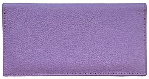 Basic Leather Plain - Light Purple Basic Leather Checkbook Cover
