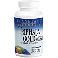 Triphala Gold 1000mg Org Cultivated Fruits Planetary Herbals 120 Tabs