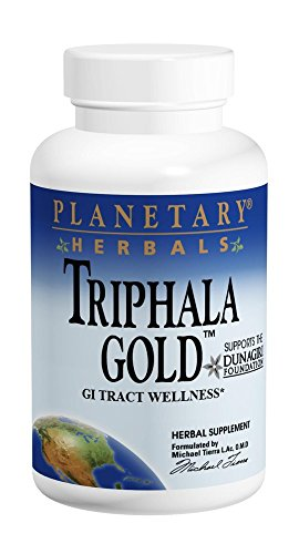 Planetary Herbals Triphala Gold 550mg Cleanser & Tonifier Extra Strength Ayurvedic - 120 Veggi Caps