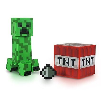 amazon com minecraft core creeper figure pack toys games