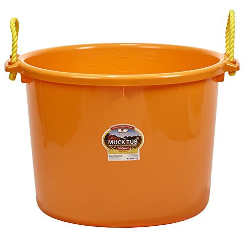 LITTLE GIANT Orange 70 Quart Muck Tub