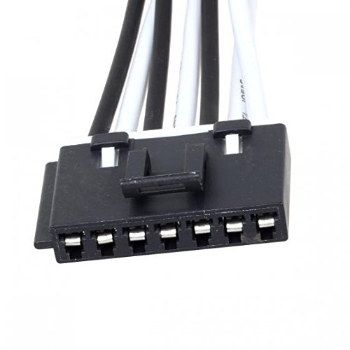 41uYJjKbA%2BL amazon com 2pcs 7 wire pigtail blower motor resistor plug 7-wire blower motor resistor harness at bayanpartner.co