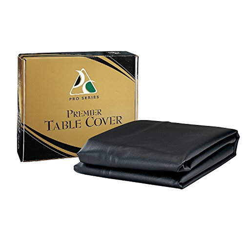 Pro Series TC9BK Premier Leatherette Pool Table Cover, Black, 9-Feet - Premier Table Cover