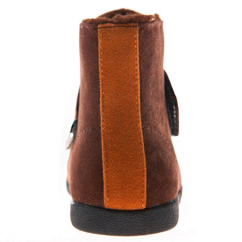 HLT Toddler/Little Kid Girl Decorative Shoelace Hook&Loop Closure Brown Boot [US 10 / EU 27]