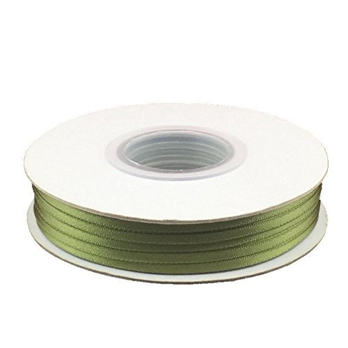 1/8in. Wide Double Faced Satin Ribbon - Old Willow (100 yard spool)