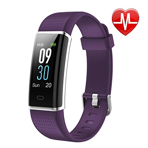 LETSCOM Unisex-Adult Fitness Tracker, Heart Rate Monitor Watch with Color Screen, IP68 Waterproof, Step Counter, Calorie Counter, Sleep Monitor, Pedometer, Smart Watch for Kids Women and Men ()