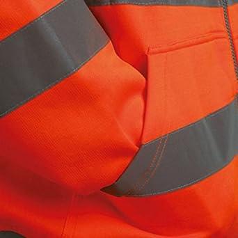 Vizwell Warnschutz-Sweatjacke Warnschutz-Kapuzenjacke
