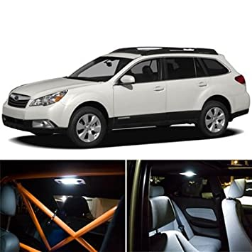 6-Piece Subaru Outback Interior Package LED Lights Kit 2010-2012 - 6000K White