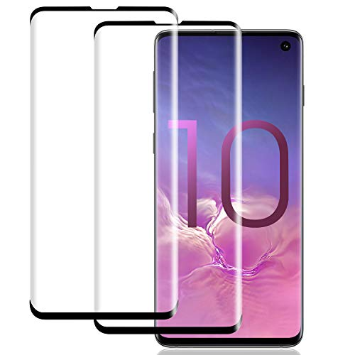 Samsung Galaxy S10 Screen Protector, WZS [2 Pack] [No Bubbles] [9H Hardness] [Scratchproof] [Table Friendly] Tempered Glass Screen Protector Compatible with Samsung Galaxy S10