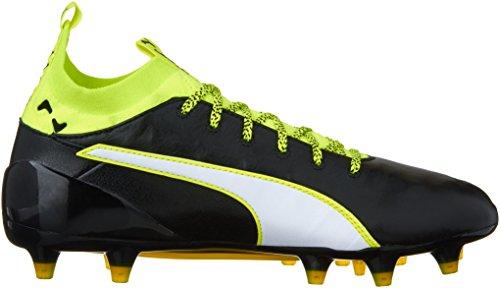 Puma Mannen Evotouch 1 Fg Voetbalschoen Zwart / Wit / Veiligheid Grijs
