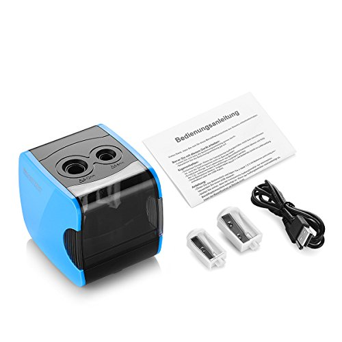 SMARTRO Electric Pencil Sharpener, Best USB or Battery Operated Heavy Duty for No.2 and Colored Pencil Photo #4