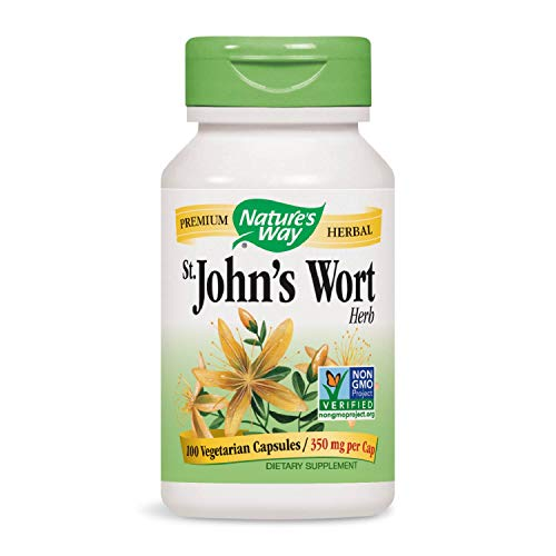 Nature's Way St. John's Wort; 350mg; Non-GMO Project Verified, TRU-ID Certified; 100 Vcaps (Packaging May Vary) (Best Antidepressant For Mild Depression)
