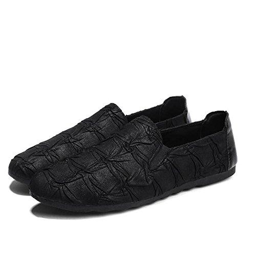 Lxmei Zapatos Los Hombres Masculinos Conducción Clásico Mocasines Planos Otoño De Guisantes Primavera Negro Moda Y Cómodo Casuales rrwFdq