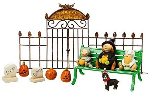 GARDENSHOW Mini Fairy Garden Sets - Miniature Dollhouse Fairy Garden Halloween Trick or Treat Set
