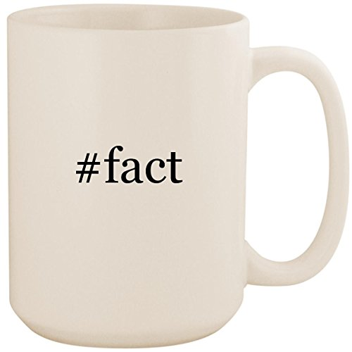 #fact - White Hashtag 15oz Ceramic Coffee Mug Cup (Interesting Facts About Jackie Robinson For Kids)