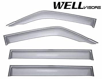 wellvisors ventana lateral deflector de viento Viseras - MITSUBISHI MONTERO 2001 2002 2003 2004 2005 2006 Premium Serie: Amazon.es: Coche y moto
