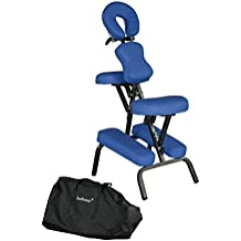 "Portable Massage Chair Comfort 4"" Thick Foam Light Weight BestMaassage brand . With Free Carrying Bag *Blue*"