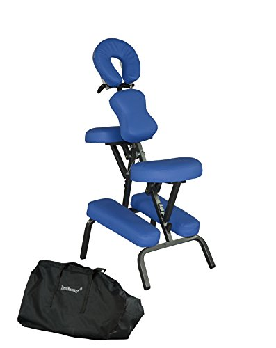 portable massage chair comfort 4 thick foam light weight bestmaassage brand with free carrying bag blue