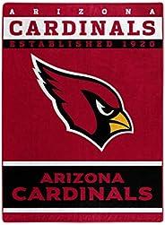 NFL Arizona Cardinals Plush Raschel Blanket, 60 x 80-Inch, Black