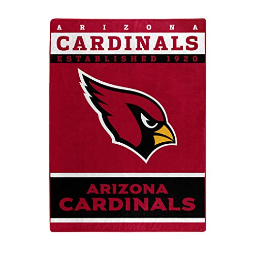 Arizona Cardinals Bed Nfl (The Northwest Company Officially Licensed NFL Arizona Cardinals 12th Man Plush Raschel Throw Blanket, 60