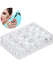 Tattoo Ink Cap Holder Pigment Stand Makeup Crystal Rack Square Acrylic