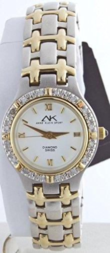 Anne Klein Women's 10/8801TTSC Crystal Accented Two-tone Quartz Watch