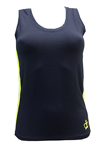 Camiseta Padel Black Crown Delhi Marino-Amarillo - S: Amazon.es ...
